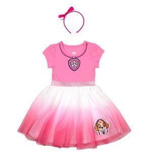Girl's 2T Paw Patrol (Sky) Pink Dress & Headband